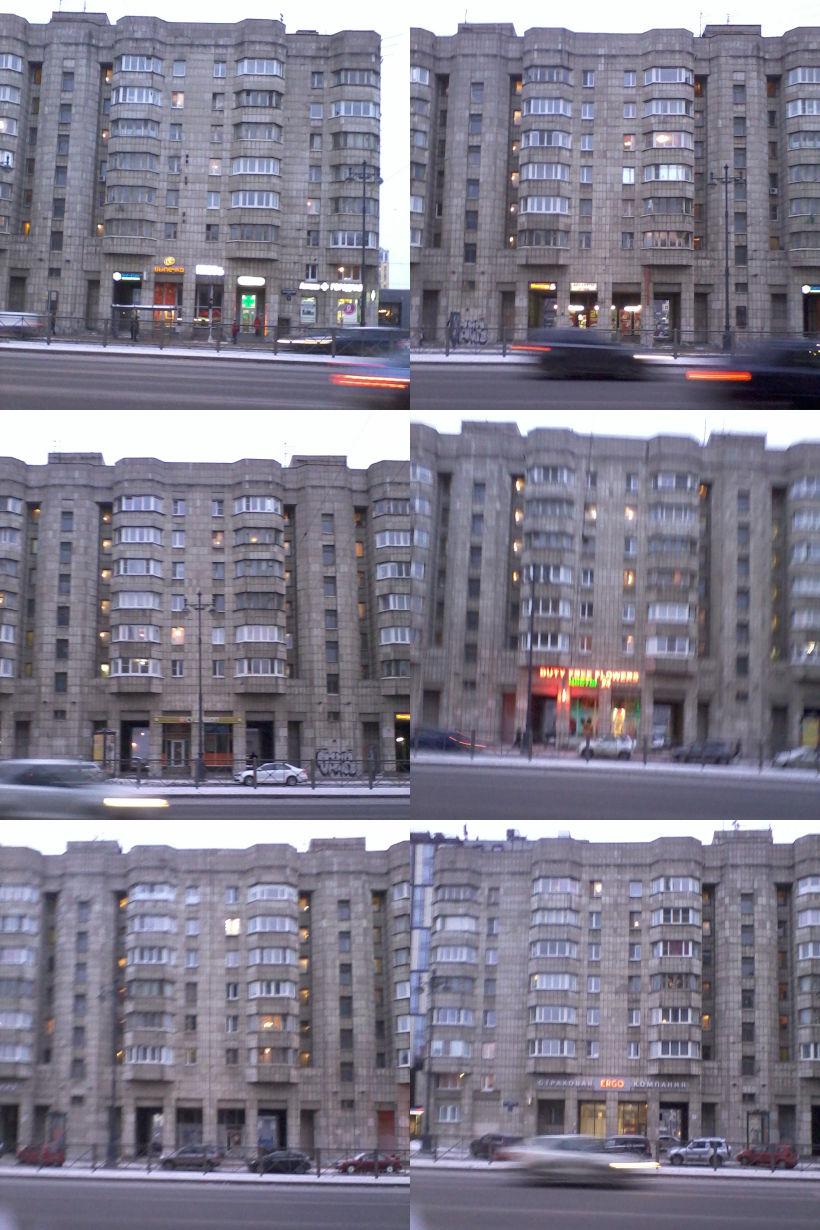 коллаж фрагментов дома Московский, 73